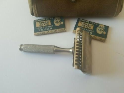 VINTAGE Ever-ready Razor Army Army Green Canvas with