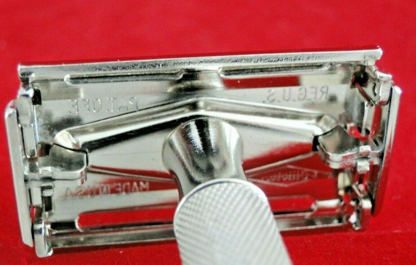 Vtg. 1948 Superspeed Razor, Kit, Soap Blades
