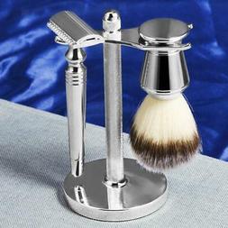 MagiDeal Men Shaving Brush Holder Stand Safety razor Soap Cr