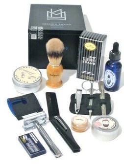 Men's Deluxe Grooming Shaving Set Hair, Beard & Mustache, Sa