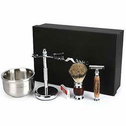 Men's Shaving & Grooming Set,  Hair Shaving Brush Double Edg
