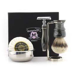 Men's Shaving Kit Manual Complete Wet Shaver Set With Safety