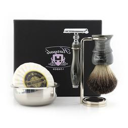 Metal Shaving Resin Kit - Five Pieces Safety Razor Brush and