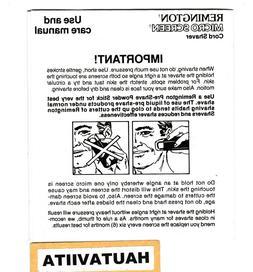Remington Microscreen Cord Shaver Instructions Book English