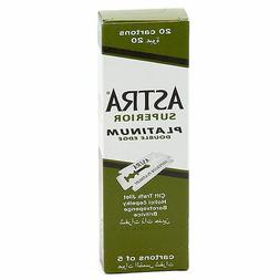 100 X Astra Superior Platinum Double Edge Safety Razor Blade