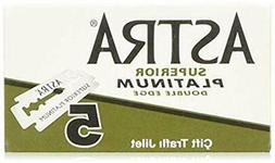 Astra Platinum Double Edge Safety Razor Blades 100 Count Pac