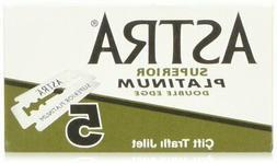 Astra Platinum Double Edge Safety Razor Blades 100 Count