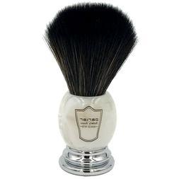 premium black synthetic bristle shave brush marbled