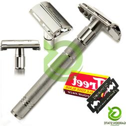 PRO Men's Safety Razor Twist Handle Butterfly Open Double Ed