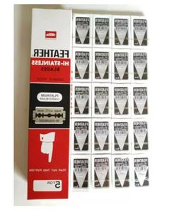 Razor Blades Hi Stainless Shaving FEATHER Coated Double clas