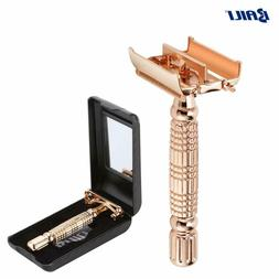 Rose Gold Classic Butterfly Double Edge Safety Razor Shaver