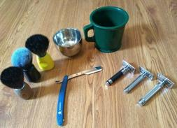 Edwin Jagger Safety Razor,Merkur,Shaving Mug,Shave Brush