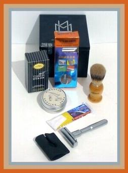 SALE Shaving Set-Merkur Futur Clone Safety Razor, Brush/Soap