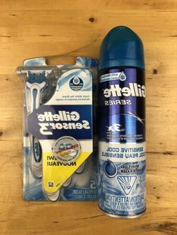 Gillette sensitive cool shave gel and Sensor 3 Disposable Ra