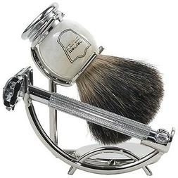 Parker 29L Shave Set - Safety Razor, Stand & 100% Black Badg