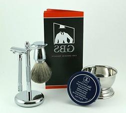 Shaving Gift Set with Merkur Safety Razor, Bowl, TOBS Shave