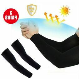 4 Pairs UV Protection Cooling Arm Sleeve UPF 50 Sun Sleeves