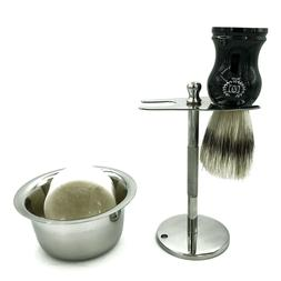 Shaving Stand for Safety Razor and Shaving Brush with Mug fo