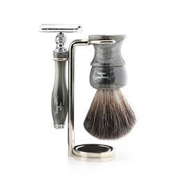 Stainless Steel Shaving Stand for DE Safety Razor Badger Bru