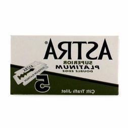 ASTRA Superior Platinum Double Edge  Razor Blades 5 Blades