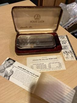 ROLLS RAZOR THE TRAVELER, extra blade, original case, instru