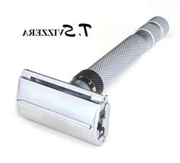 TS68S Adjustable Butterfly Open Safety Razor Silver Shade +