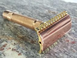 Vintage 1930's Gillette 3 Piece Safety Razor  Copper Brass