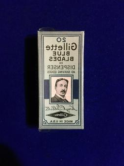 Vintage Gillette Safety Razor Blue Blades 20 Pack