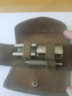vintage wwii razor army kit army green