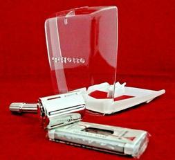 Vtg. NOS 1964 Gillette Slim Adjustable Razor, Complete Kit,